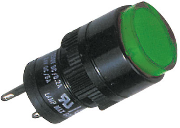 16MM GREEN ROUND PILOT LIGHT