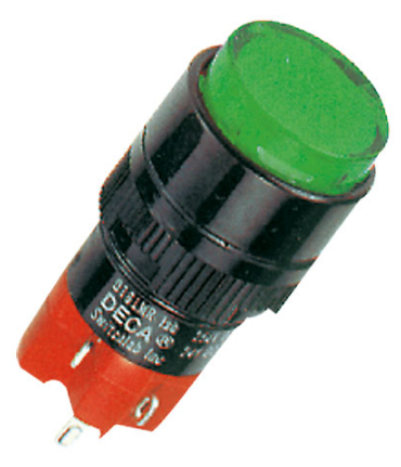 16MM GREEN RND PUSHBUTTON 3NO+3NC