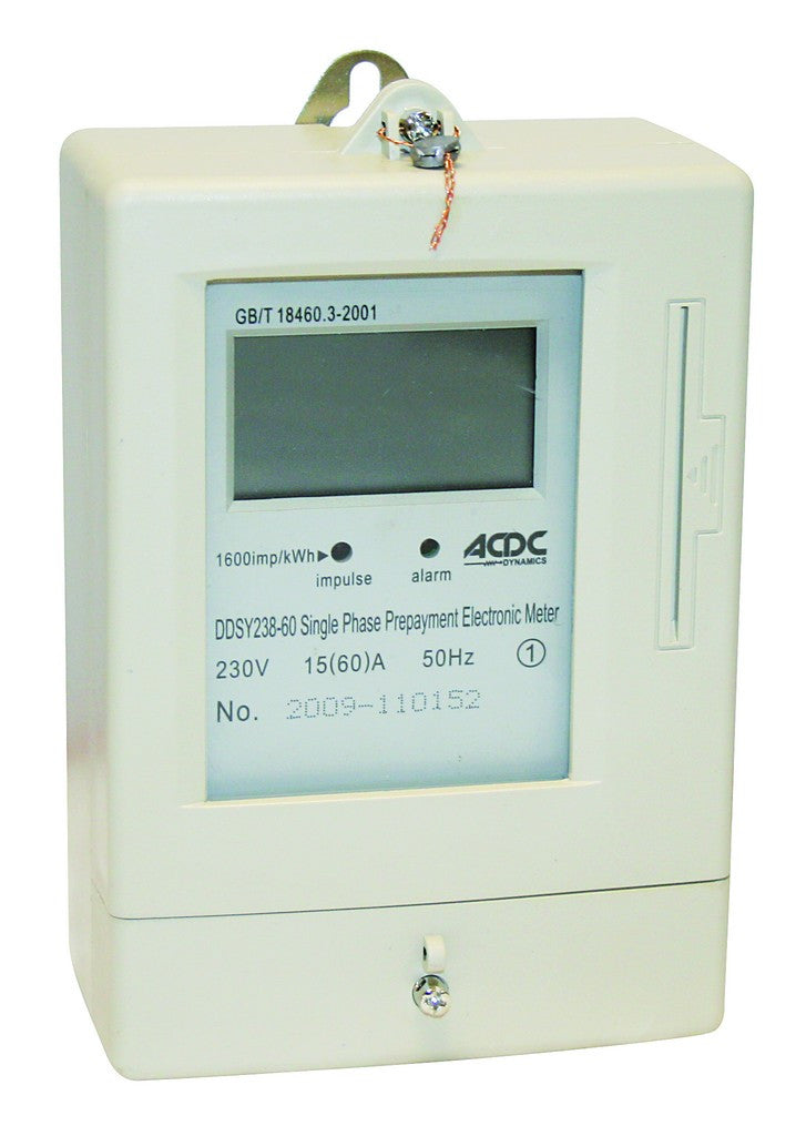 15(60)A 230VAC 50HZ SINGLE PHASE PRE-PAYMENT kWH METER