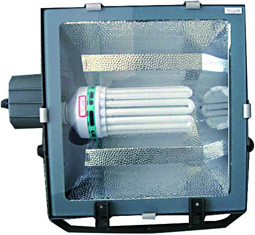 FLOODLIGHT BLACK SYM E40 C/W 180W CFL IP54