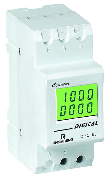 COUNTER & HOURS METER WITH BACKUP 8 DIGIT LCD 16A