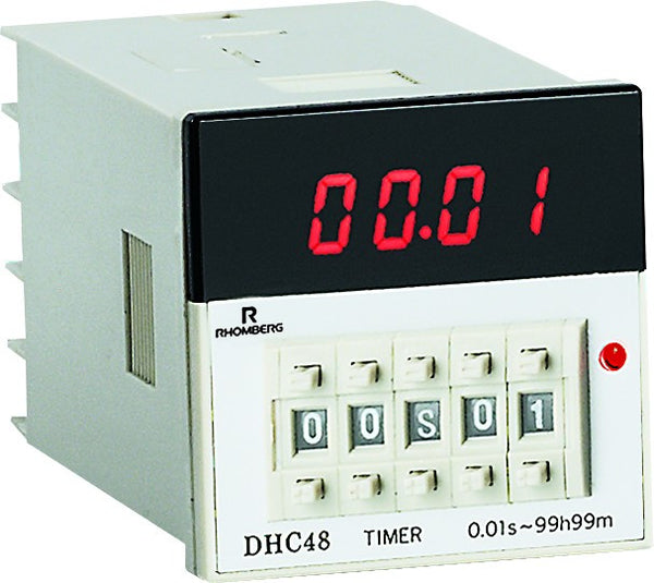 DIGITAL TIMER 0.3 INCH LED 100V-240V 48x48x92mm