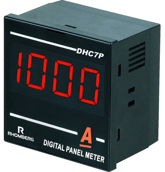 DC AMP DIGI PANEL METER 3.5 DIGIT 100-240V 72X72X48mm 60MV