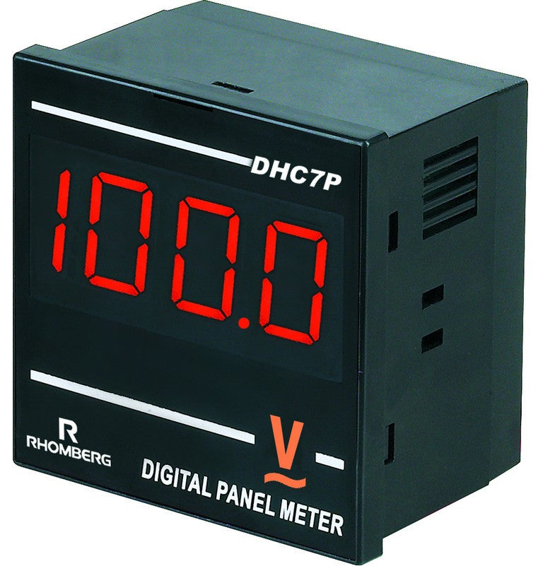 AC VOLTAGE DIGITAL PANEL METER 3.5 DIGIT 100-240V 72X72x48mm
