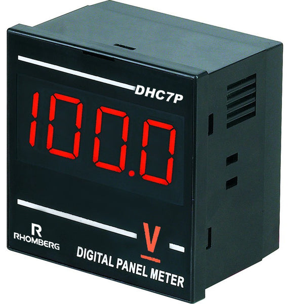 12-60VDC DC VOLTAGE DIGITAL PANEL METER 3.5 DIGIT 72x72x48mm