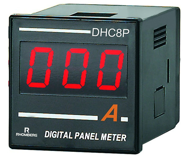 DC AMP DIGI PANEL METER 3 DIGIT 100-240V 48x48x70mm 60MV