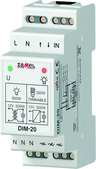 LIGHT DIMMER 500VA 230VAC IP20