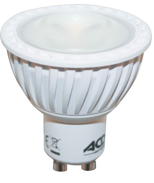 12VAC/DC  7W  COOL WHITE LOW GLARE LED LAMP DIMMABLE GU5.3