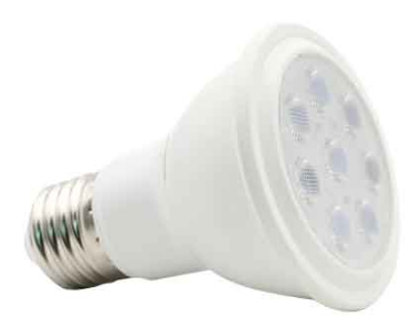 230VAC 10W PAR20, WARM WHITE, E27 DIMMABLE LED, 60° BEAM ANG