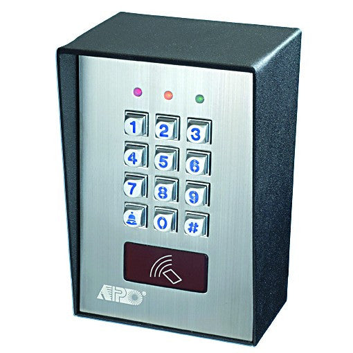 CODE/CARD ACCESS CONTROL SURFACE MOUNT 12-24vDC C/W 2 X CARD