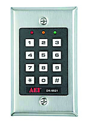 CODE ACESS CONTROL FLUSH MOUNT 12-24VDC IP44