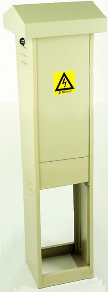 STEEL DIN DB KIOSK 18-WAY GREY