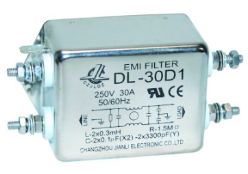 MAINS FILTER 250V 1PH 6AMP WIRES