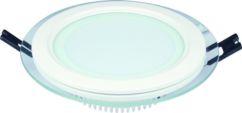 12W 85-265V 100mm DIA ROUND C/W GLASS LED DOWNLIGHT 3000K