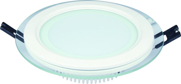 6W 85-265V 100mm DIA ROUND C/W GLASS  LED DOWNLIGHT 6000K