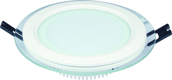 18W 85-265V 200mm DIA ROUND C/W GLASS LED DOWNLIGHT 6000K
