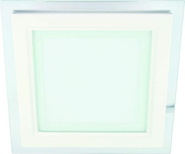 12W 85-265V 160x160mm SQUARE C/W GLASS LED DOWNLIGHT 3000K