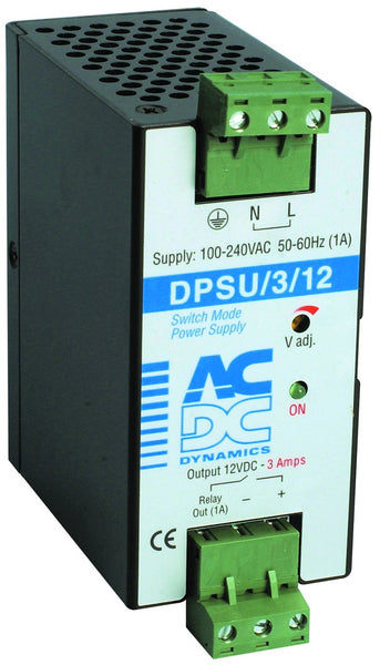3 AMP POWER SUPPLY 110/230VAC:12VDC