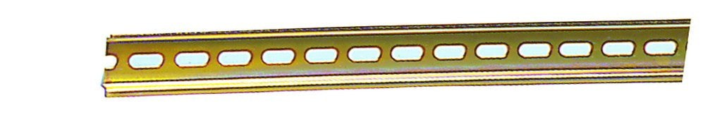 DIN 35 UNSLOTTED YELLOW STEEL RAIL 1M