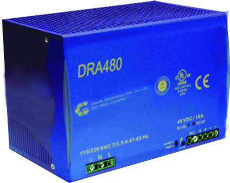 90-265VAC/24VDC 20A POWER SUPPLY WITH DC BACKUP