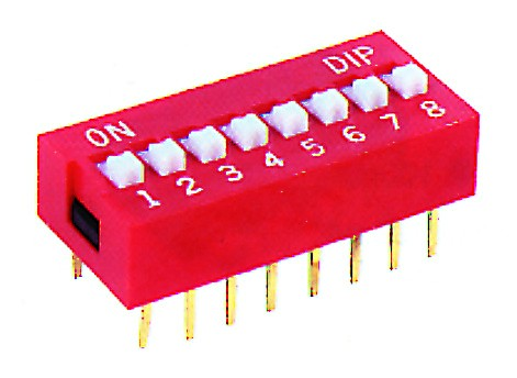 9-WAY DIP SWITCH RED