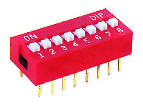 7-WAY DIP SWITCH RED