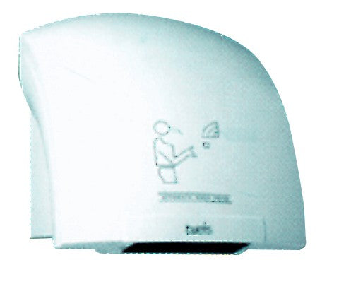 WALL MOUNTED HAND DRYER 1800WATTS 230VAC PLASTIC COVER