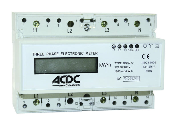 5(100)A DIGITAL 3 PHASE 400V + N kWH METER DIGITAL