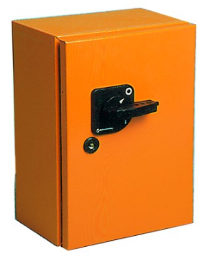 200A 4P CHANGEOVER SWITCH ORANGE STEEL ENCLOSED IP54