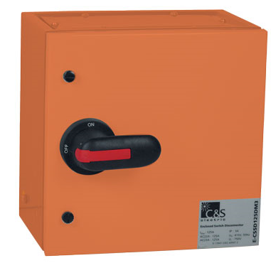 250A 3P ISOLATOR STEEL ENCLOSED ORANGE IP54