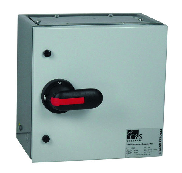 200A 4P ISOLATOR STEEL ENCLOSED ORANGE IP54