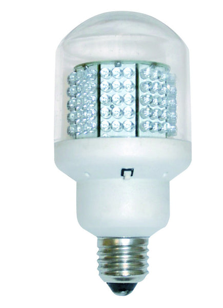 230V COOL WHITE E27 LED FLASH/CAUTION LIGHT BULB 143(L)x70(D