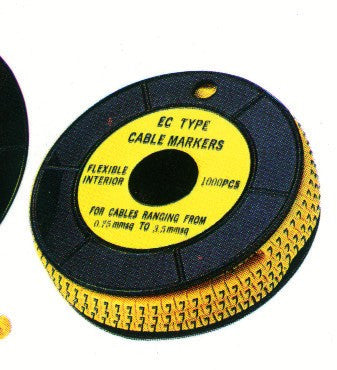 1 YELLOW CABLE MARKER WIRE FOR SIZE 1-2.5 /1000