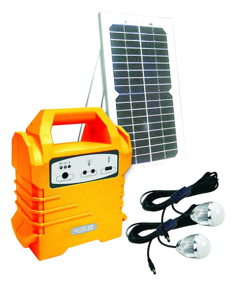 Solar Lights Cape Town: 5Wp SOLAR PANEL, 2x 3W LED LIGHTS,4Ah BATTERY
