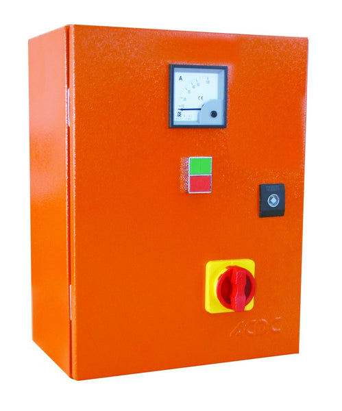 132kW 525V S-D STARTER +ISOL+AMM ORANGE STEEL IP65 110V TRF