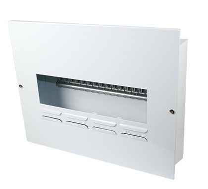 16-WAY WHITE STEEL FLUSH 13mm MCB DB NO DOOR IP42