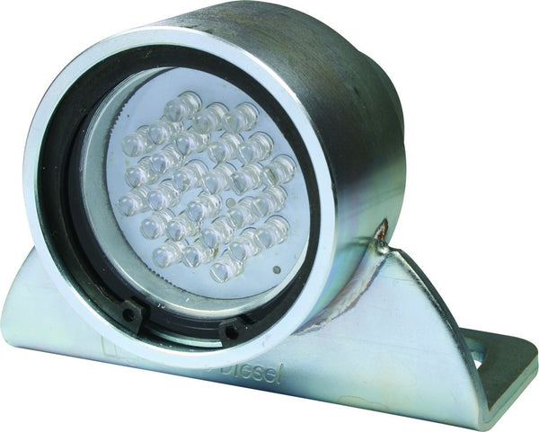 12 - 36VDC 8W GREEN ROUND LED MARKER LAMP