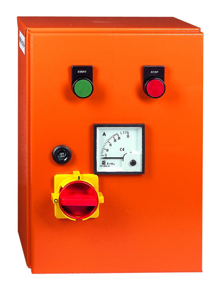 90kW 400V DOL STARTER+AMM ORANGE STEEL IP65 230V COIL