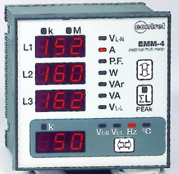3 PHASE MULTIFUNCTION METER 72x72 + PULSED OUTPUT