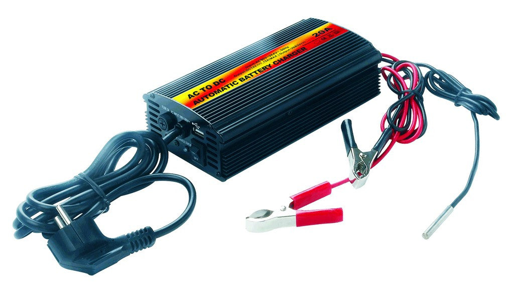 90-250VAC/12VDC,10A, 3 STAGE BATTERY CHARGER
