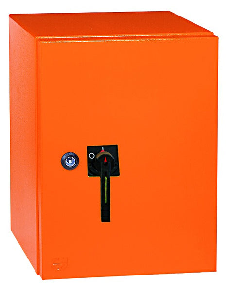 630A 4-POLE 25kA ENCLOSED ISOLATOR, ORANGE IP54