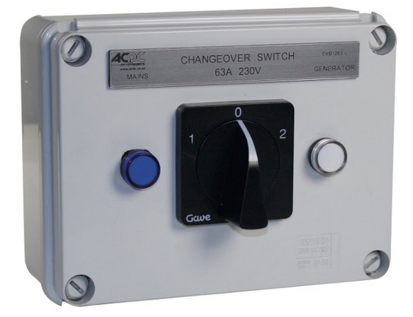 63A 4P ENCL C/O SWITCH C/W LED IND LIGHTS IP65