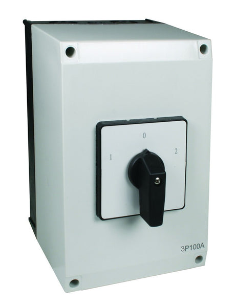 63A 2P ENCLOSED C/O SWITCH IP56