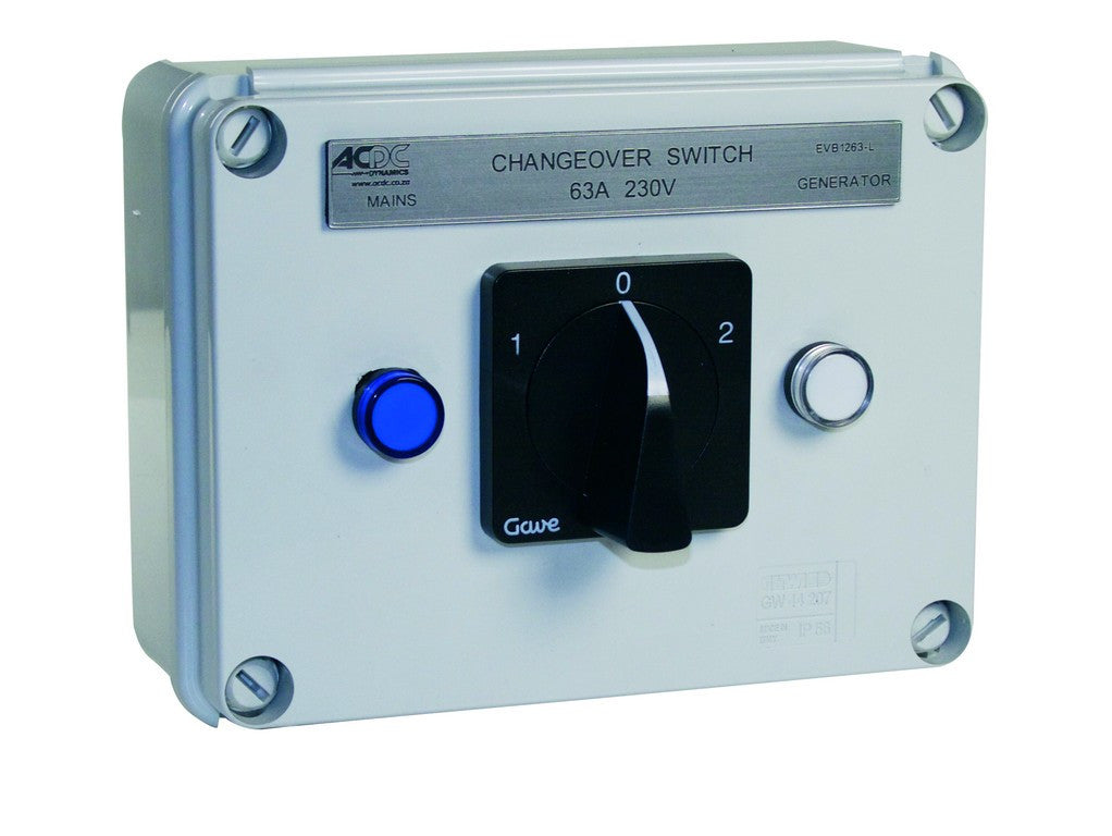 63A 3P ENCLOSED C/O SWITCH IP56