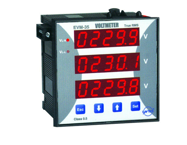 10-600VAC SINGLE PHASE VOLT METER 1N/O OUTPUT 72x72