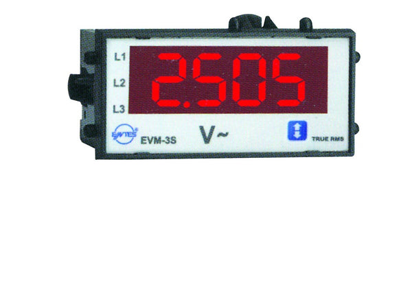 10-600VAC THREE PHASE VOLT METER 72x72