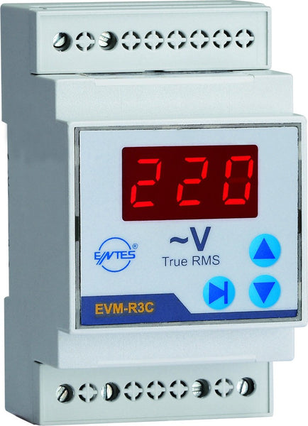 10-600VAC THREE PHASE VOLT METER DIN