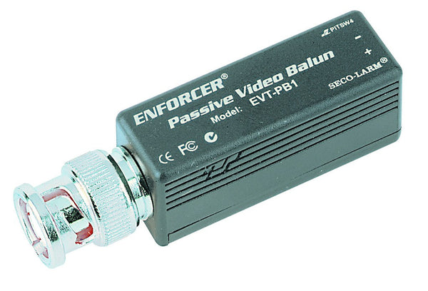 PASSIVE VIDEO BALUN C/W BNC CONN. & SPRING CLAMP TERM.