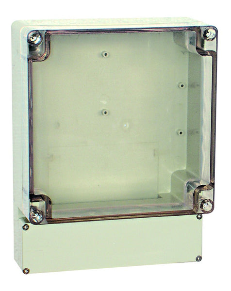 ENCLOSURE CLEAR LID 200x160x77 IP65