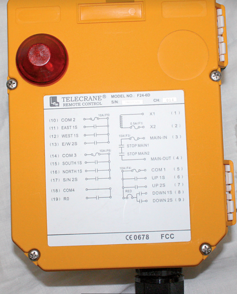 SPARE TRANSMITTER FOR F24-6D